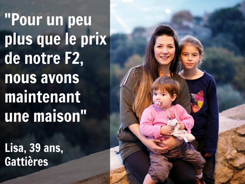 Lisa habite à Gattières avec son mari et ses deux filles.