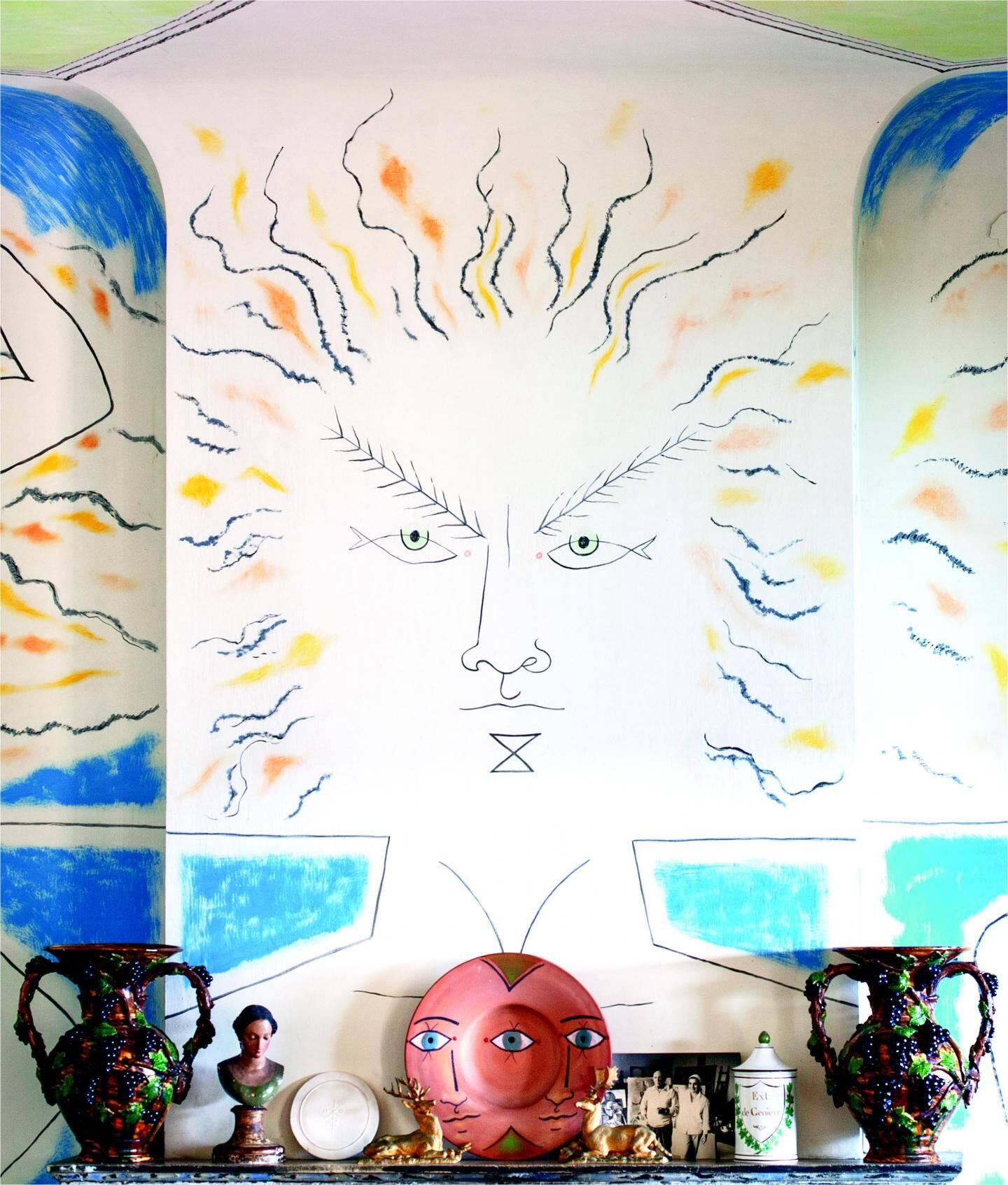 Apollon, le premier « tatouage » de Jean Cocteau à la villa Santo Sospir.