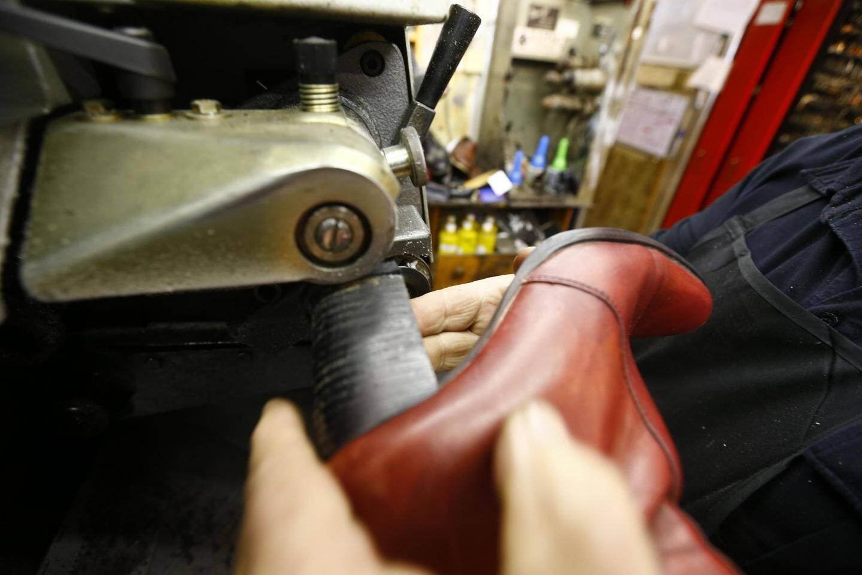 La réparation des souliers : plus que 20 % de l'activité.
