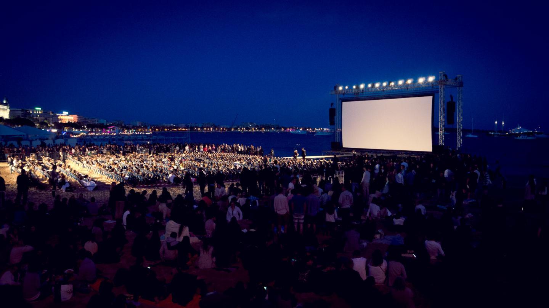 Des films seront diffusés en plein air pendant la période du Festival de Cannes