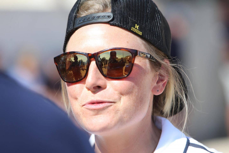 Tessa Worley, visiblement ravie d'être sous le chaud soleil de Provence.