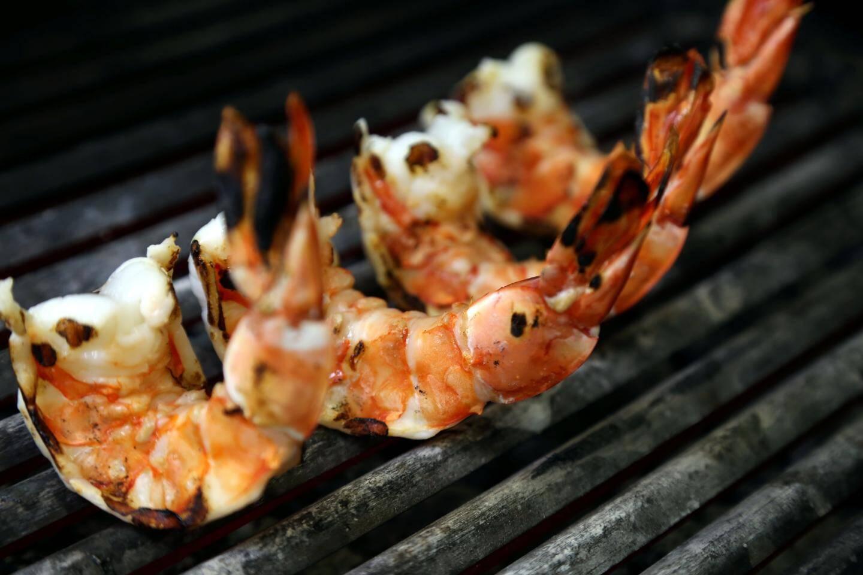 Les crevettes grillées
