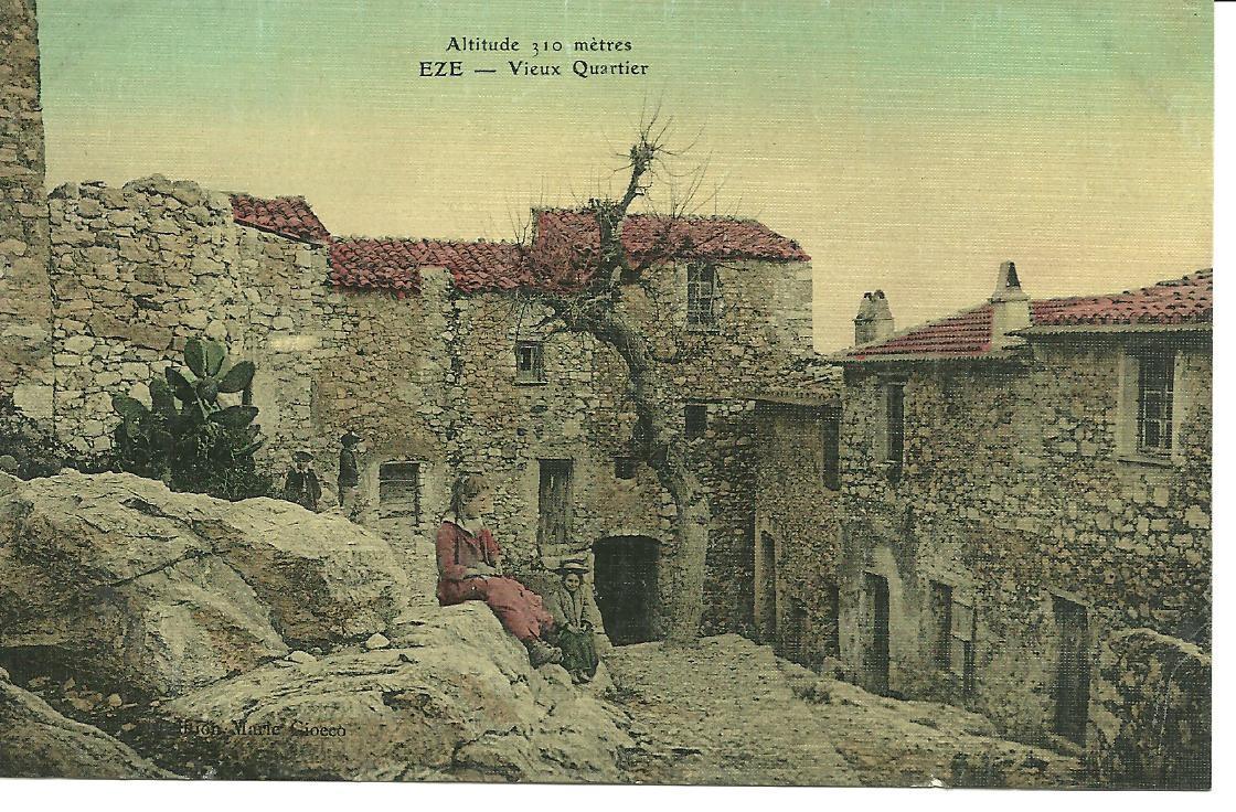 Le vieux village d'Eze au début du XXème siècle.
