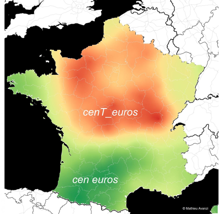 Prononciation du mot cent en France