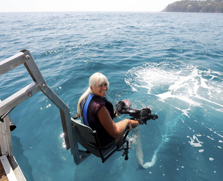 Valérie Hirschfield a testé le Flyboard à Giens: «Impressionnant!»...