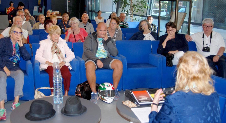 Les conférences, ici avec la profileuse Lygia Négrier-Dormant, ont été très appréciées.