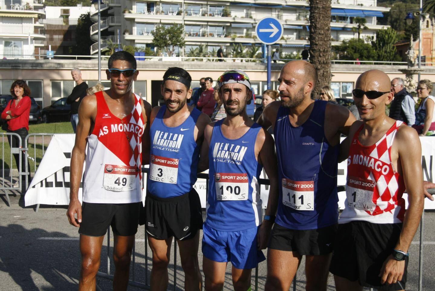 Les 5 premiers de cette 36e édition (de gauche à droite) : Smaile Bouraoui, Cédric Gilles, Gilles Rubio, Anthony Caveriviere et Kais Adli.