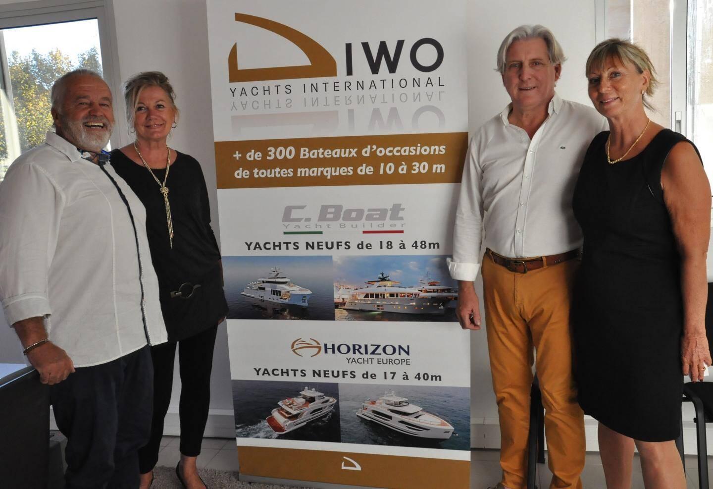 Christian Diwo et Cécile Roux, ainsi que Gilbert et Liliane Bénédic, forme le quatuor de Diwo Yatchs International.