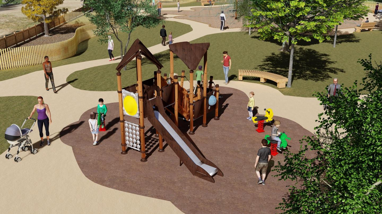 Requalification de l'aire de jeux d'enfants du parc naturel départemental de Vaugrenier.