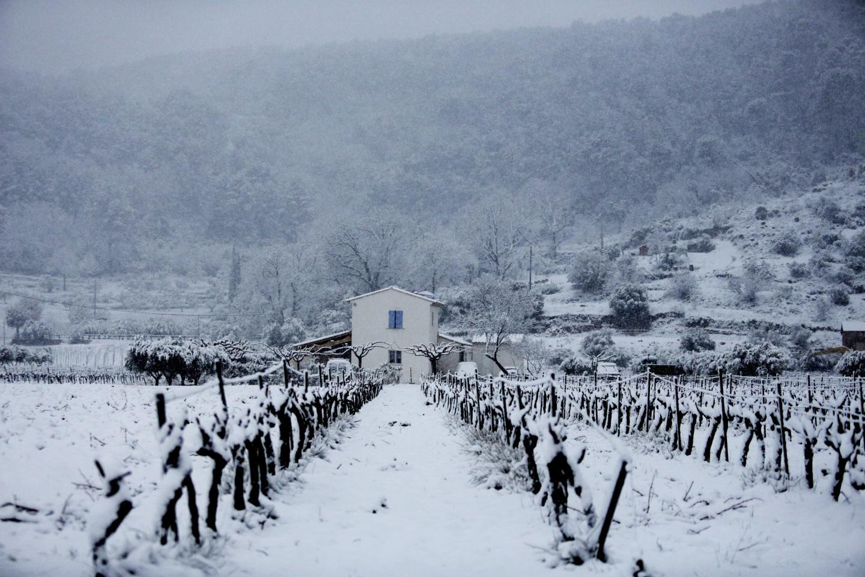Fortes chutes de neige dans le secteur de Draguignan.