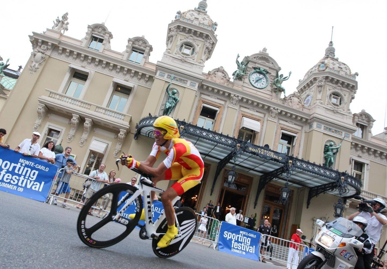 Alberto Contador à Monaco en 2009.