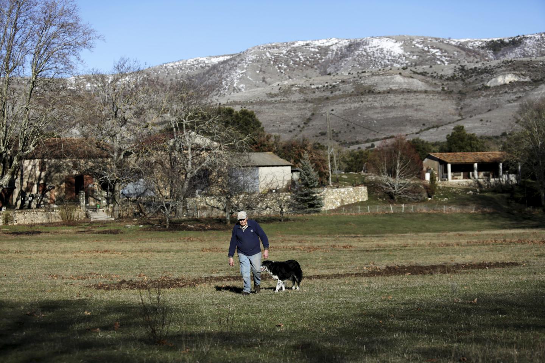 Alain Serafino a repris la ferme Saint-Andrieux dans le haut-Var depuis 1982.