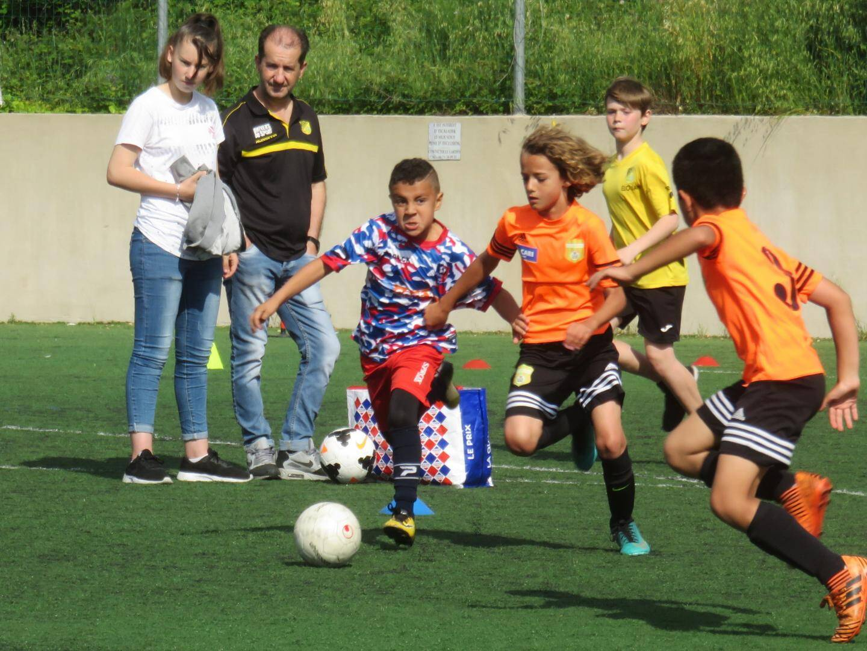 Les footballeurs en herbe n'avaient que 12 minutes pour se départager.