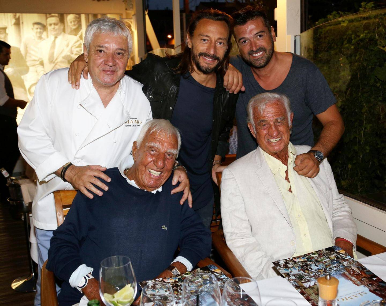 Avec Jean-Paul Belomondo et ses potes.