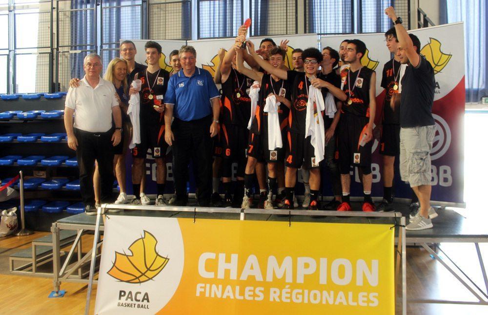 Champions PACA, les U17 sont aussi vice champions de France UNSS.
