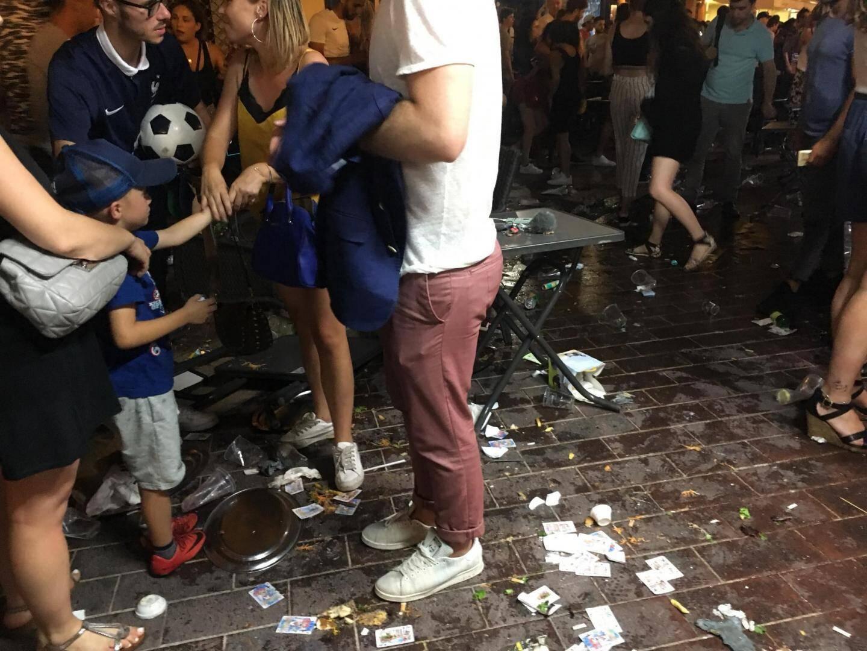 Mouvement de panique dans le Vieux Nice