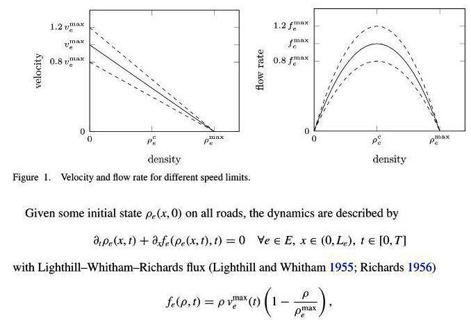 Des équations aux dérivées partielles pour calculer la solution: le réglage optimal de vitesse qui réduit l'embouteillage.