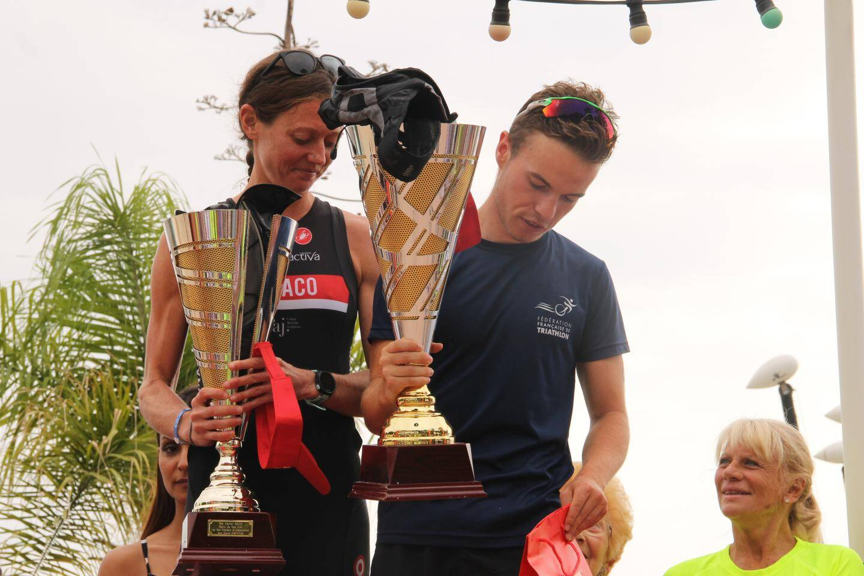 Rachel Clausing et Lucas Gaudin, les deux gagnants dans leurs catégories.