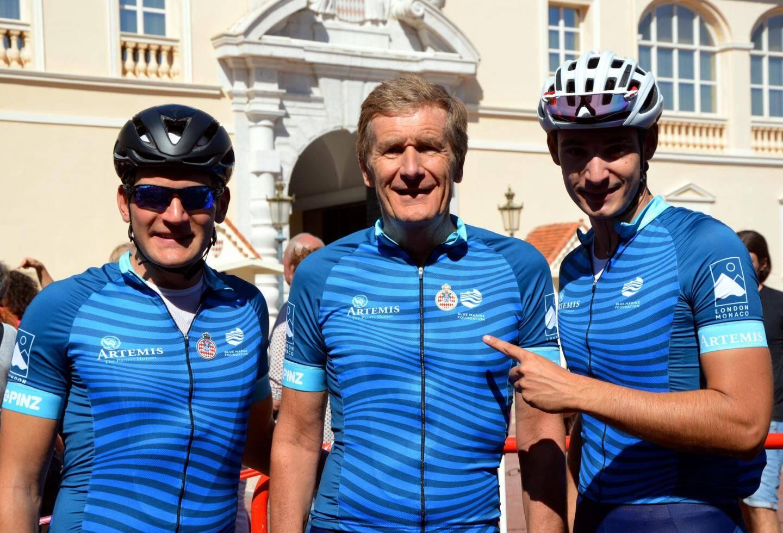 Ces trois cyclistes ont couru sous la bannière de l'Automobile Club de Monaco.