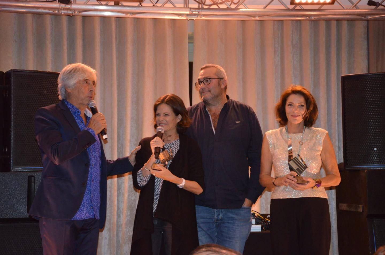 Patrick Jorge a remis les Trophées d'honneur à Charlotte Valandrey, Laurent Gamelon et Elizabeth Bourgine.
