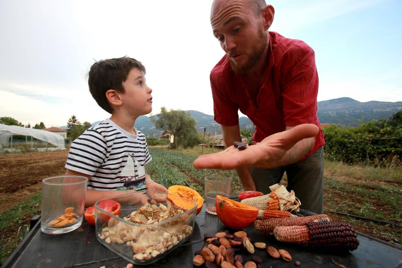 Maxime Schmitt, oléiculteur a créé, avec une poignée de passionnés, la Maison des semences maralpines, pour permettre aux agriculteurs de recultiver des variétés locales, adaptées au terroir.