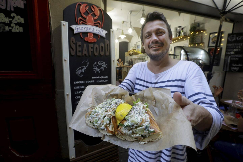 Jean-Michel, le patron du George's roll seafood, le pionnier dans le Vieux-Nice