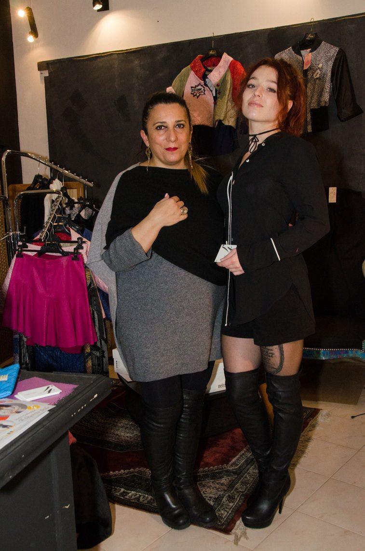 Lara Gouillon, fashion designer, a présenté la dernière collection de sa marque « Il Quarto Stile » avec le concours de Cassandra, jeune modèle.
