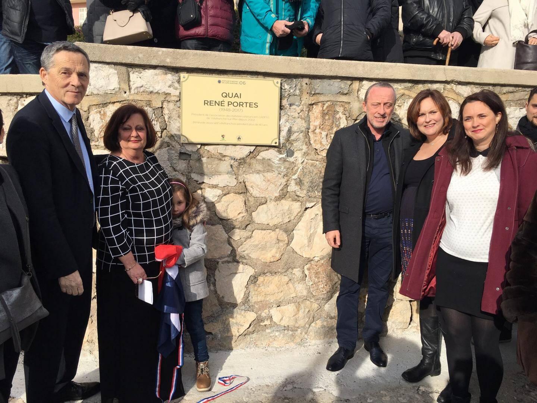 La famille de René Portes a assisté au dévoilement de la nouvelle dénomination du quai de la Darse.