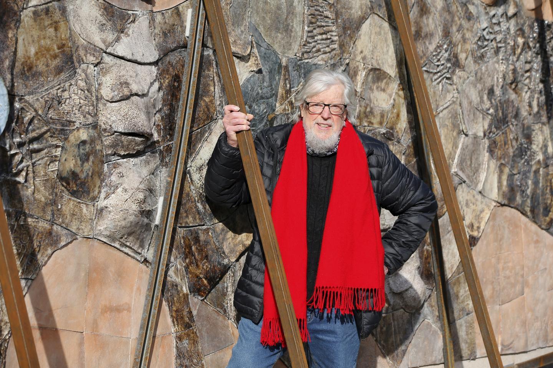 L'artiste callassien n'avait pas revu son œuvre depuis sa pose à l'université de La Garde en 1981.