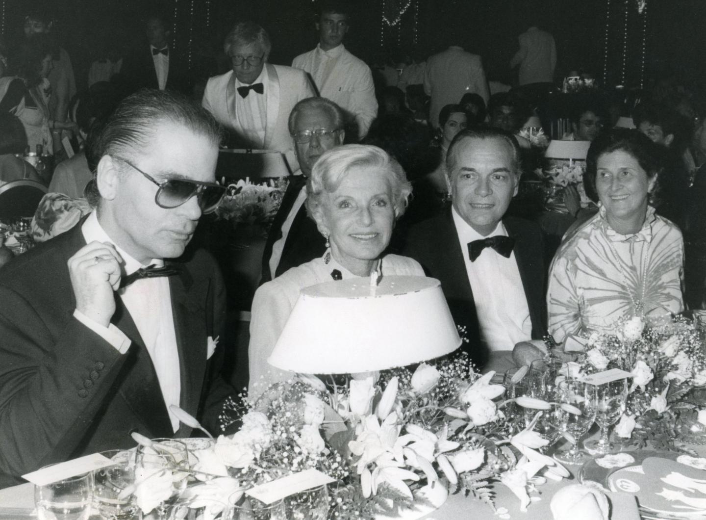 1987 : au bal de la Rose, il dîne aux côtés de la princesse Antoinette. (Archives Nice-Matin)