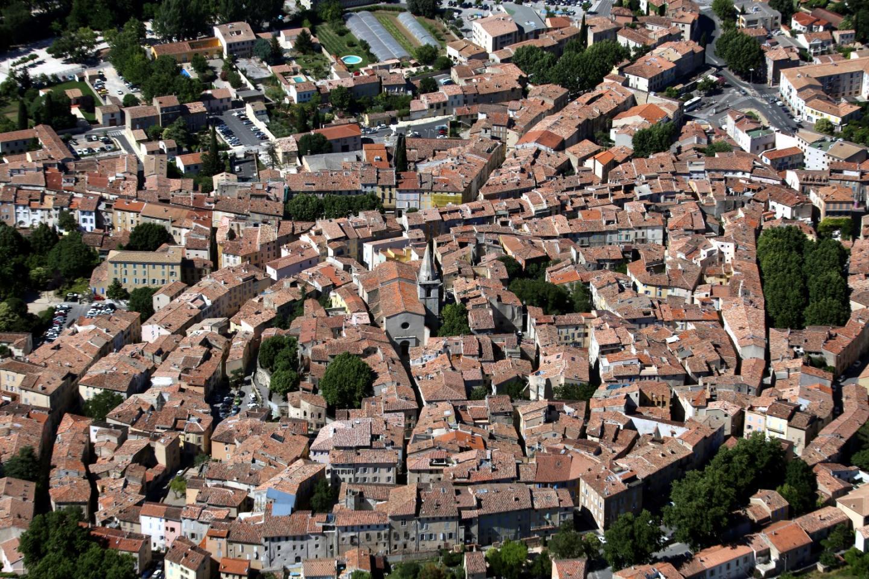 Vue aérienne de Brignoles.