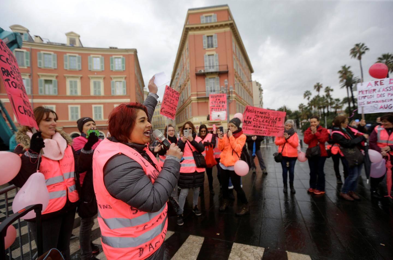 Les « ass'mat » ont montré leur mécontentement à Nice.