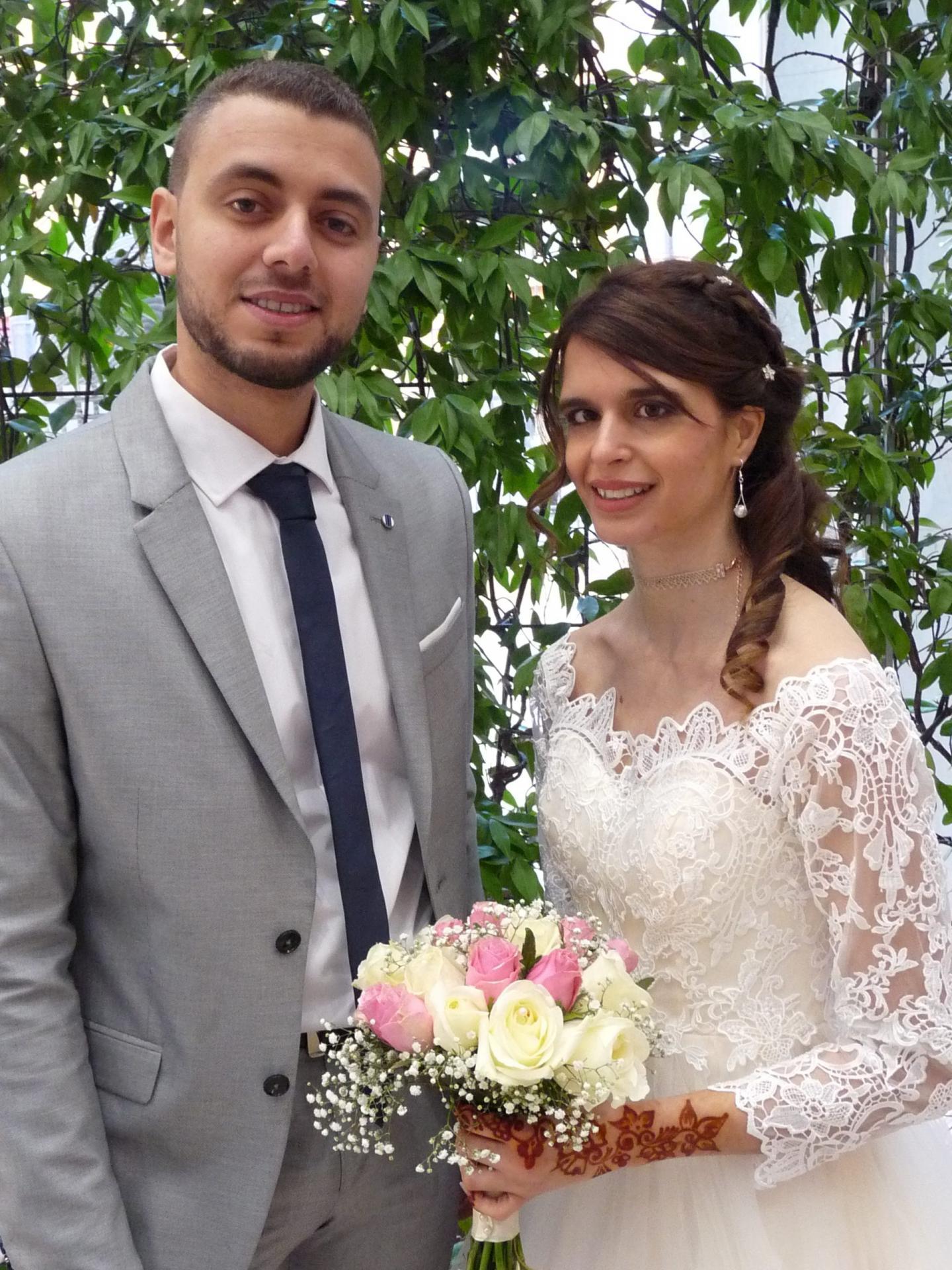 Aimad Mninouch, étudiant, et Brenda Bernardi, agent de gestion.