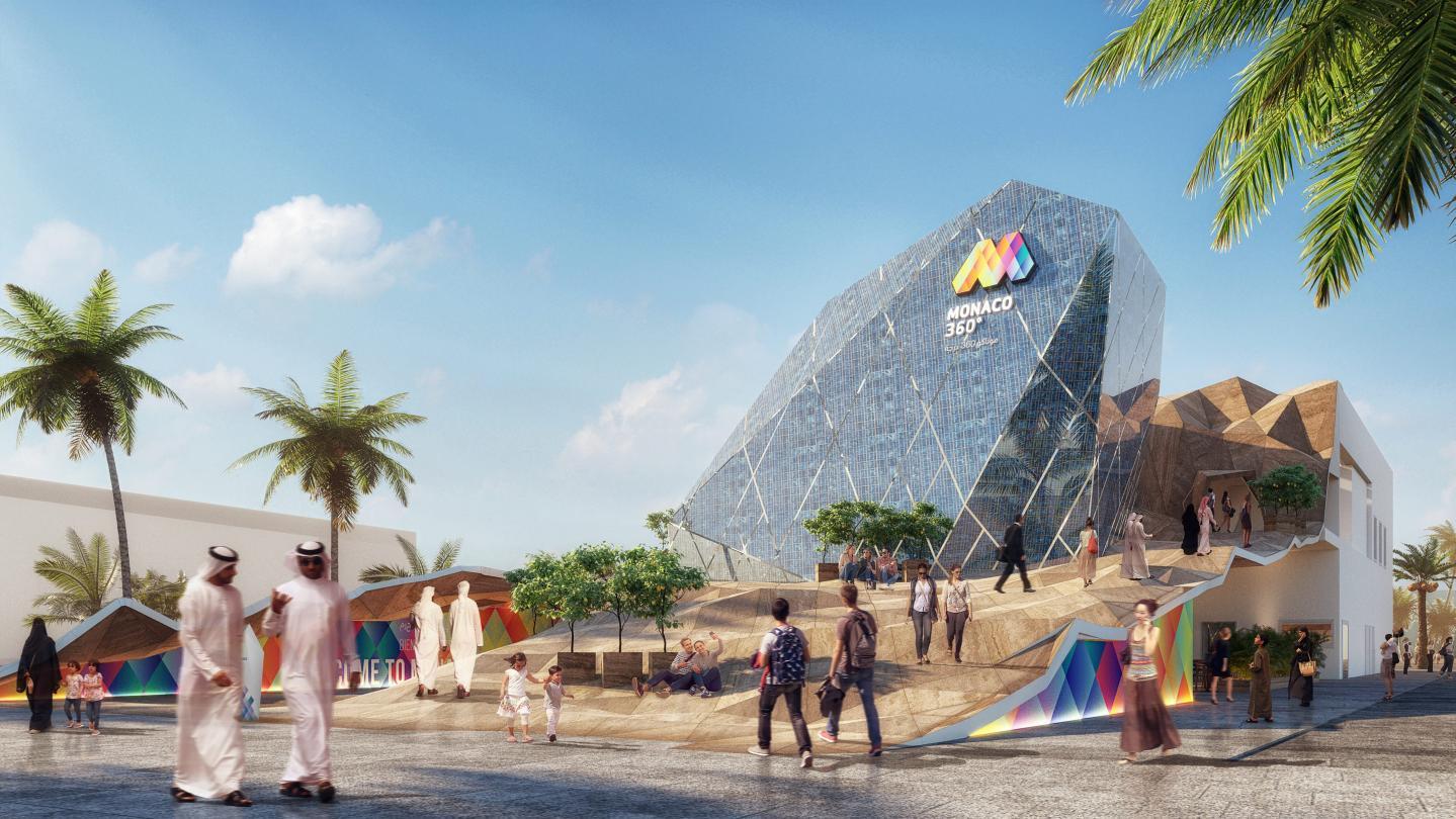 Le bâtiment en forme de diamant brut sera alimenté avec des panneaux photovoltaiques.(Repros Monaco Inter Expo)