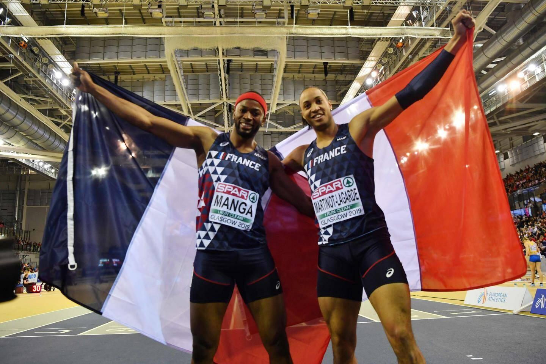 Aurel Manga (médaillé de bronze) et Pascal Martinot-Lagarde (argent) ont redonné de la joie au collectif français.