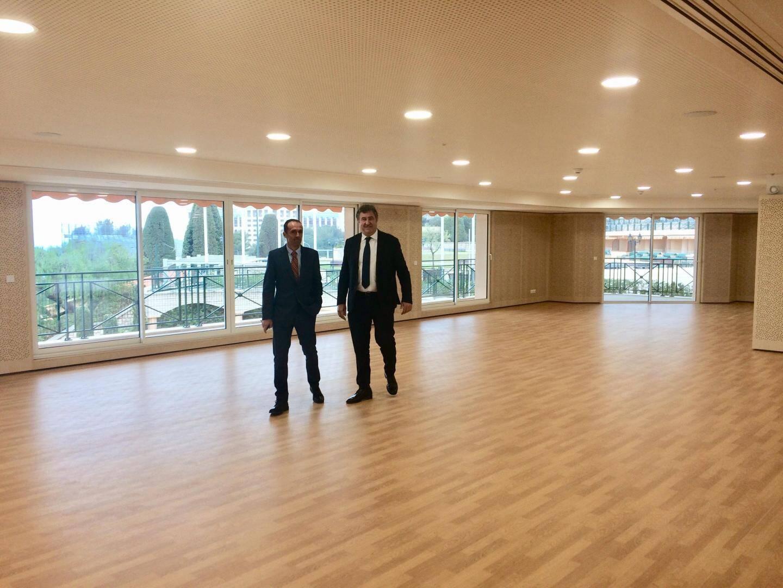 La future salle de fitness occupera 300 m2 sur deux niveaux du nouveau bâtiment.
