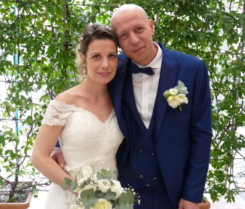 Hélène Clausse, manager, et Daniel Grosu, employé dans le bâtiment.