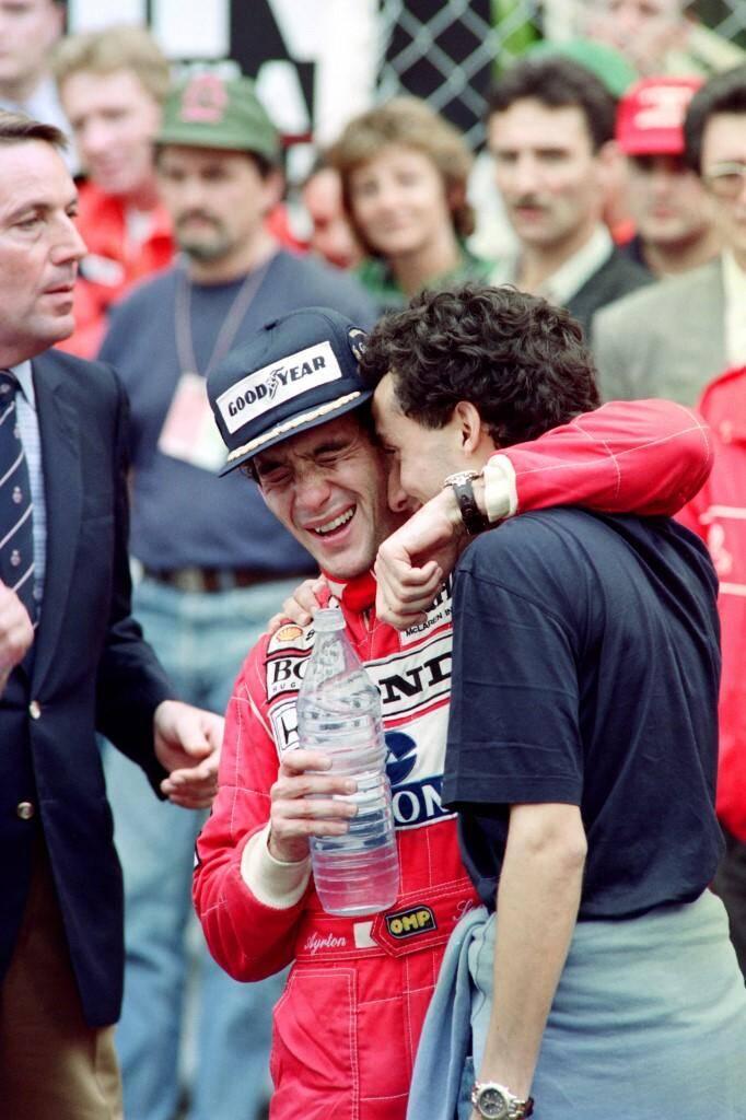 Ayrton Senna avec son frère Leonardo.