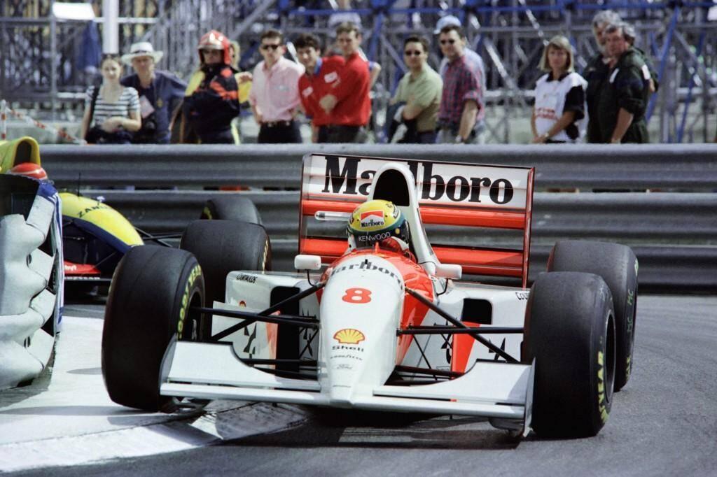 Ayrton Senna le 23 mai 1993 à Monaco.