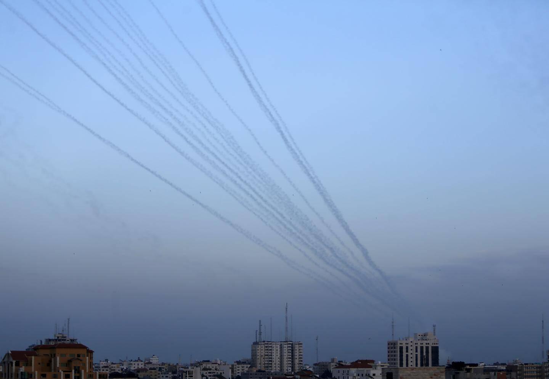Tirs de roquettes depuis la bande de Gaza en direction d'Israël.