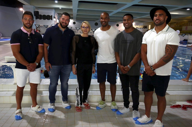 Certains joueurs vedettes du Rugby Club de Toulon sont venus apporter un soutien de taille à cette opération.