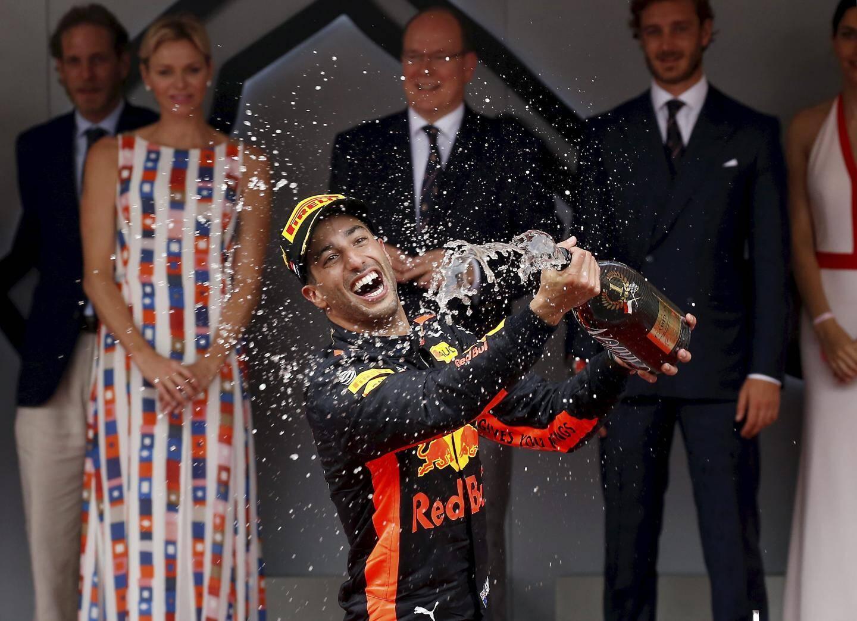 Daniel Ricciardo lors de sa victoire à Monaco en 2018.