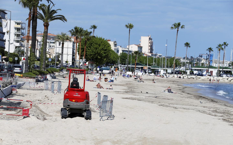 À Golfe-Juan, des travaux mais pas de plages, côté Soleil.