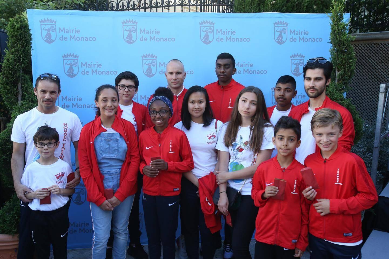 L'équipe monégasque de taekwondo.