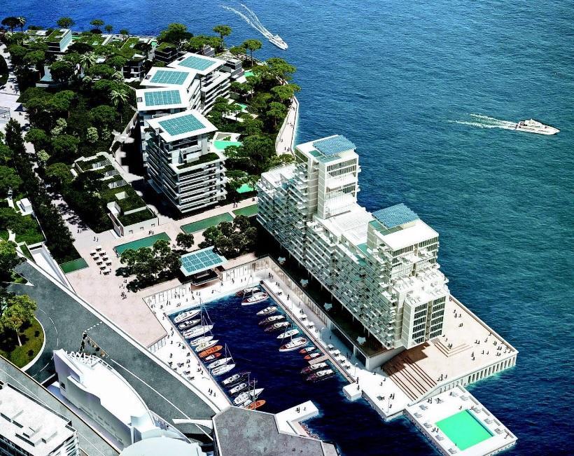 Un port d'animations de trente anneaux sera créé. (Visuels Principauté de Monaco/SAM L'Anse du Portier/Valode et Pistre Architectes/Renzo Piano Building Workshop/Michel Desvigne Paysagiste)