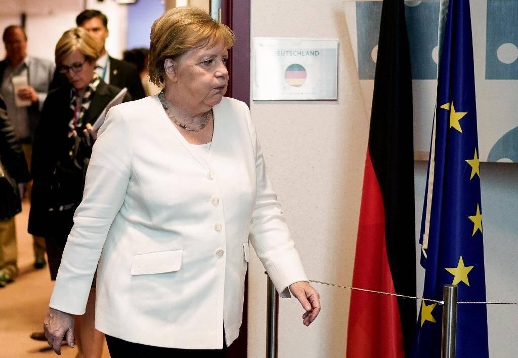 La chancelière allemande Angela Merkel, le 1er juillet 2019 à Bruxelles
