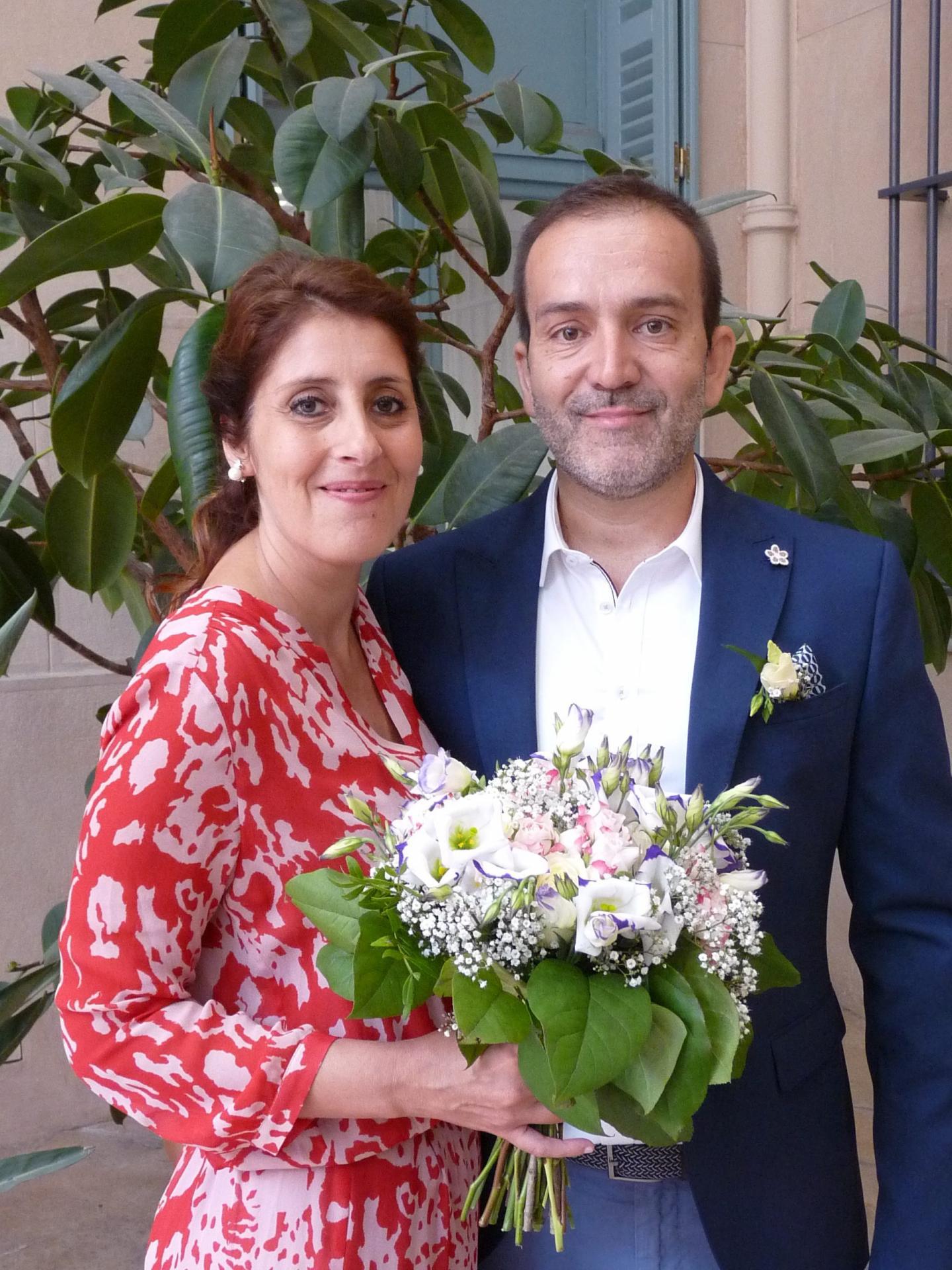Sabine Brincat et Olivier Masa, employés de banque.