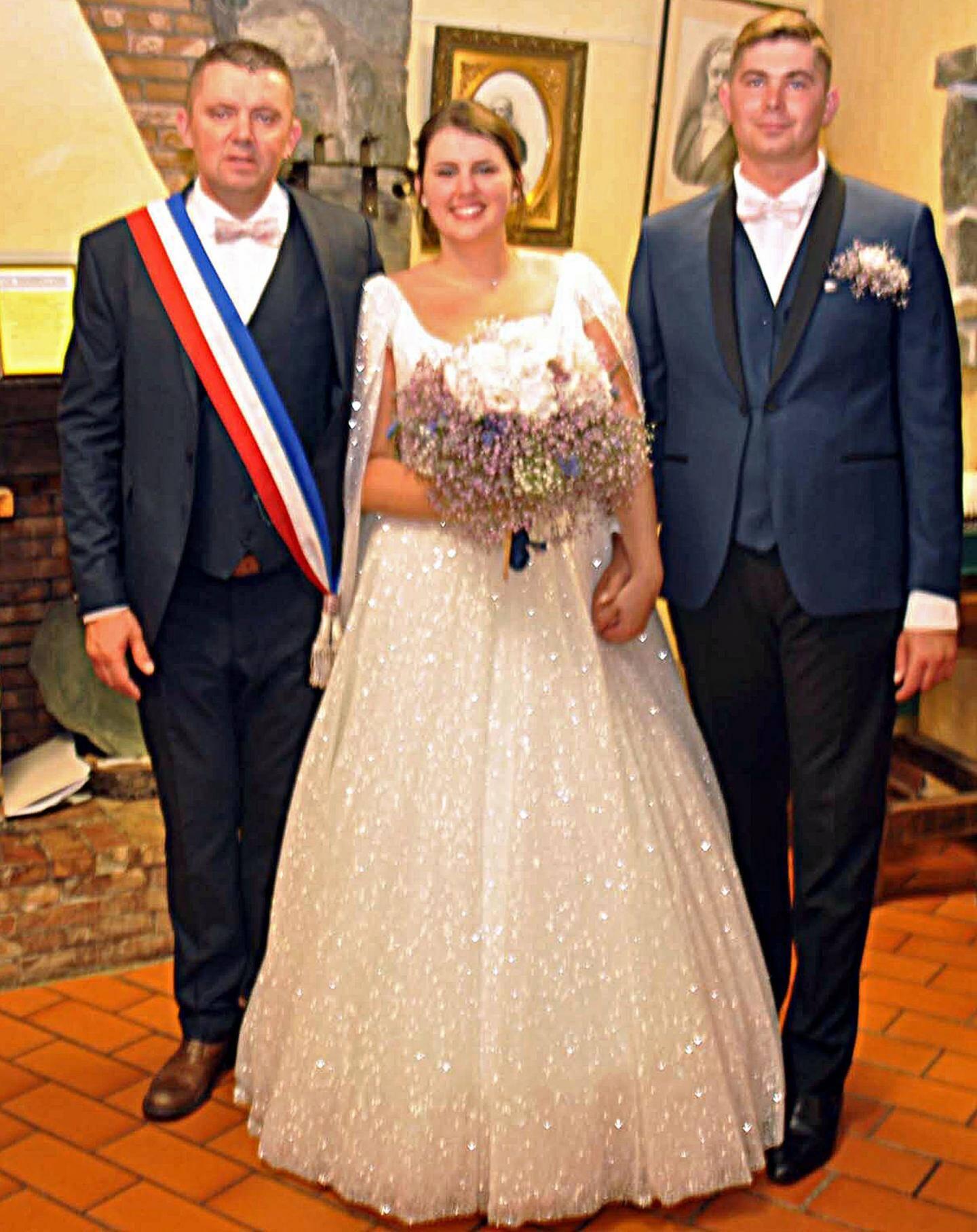 Pauline Faitot-Robion, pâtissière et Damien Ritz, chauffeur routier, à Touët-sur-Var.