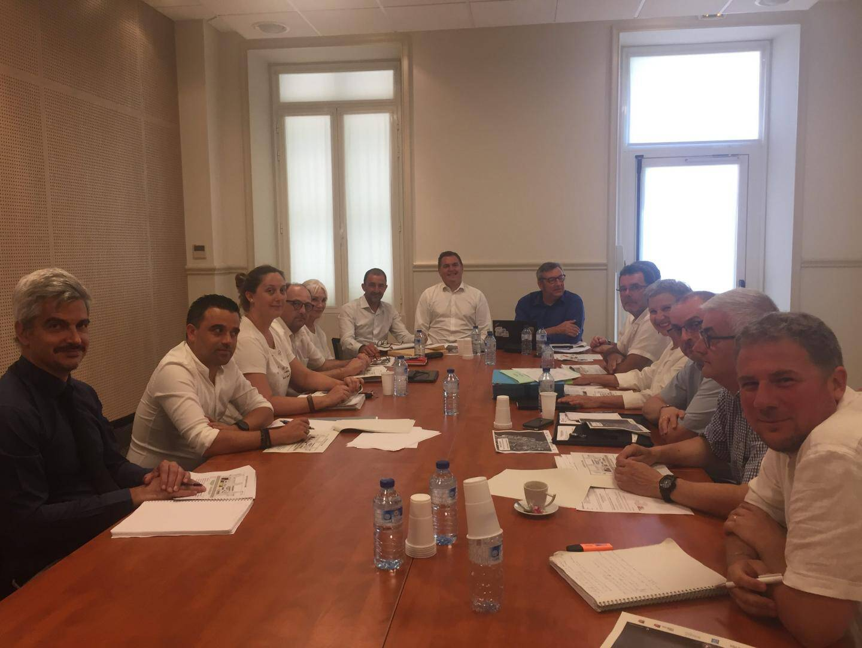 Un comité de pilotage unanime autour de Philippe Tabarot, vice-président de la Région Sud, Roger Roux, maire de Beaulieu, les responsables de la Sncf et les responsables de la Métropole et la DDTM.