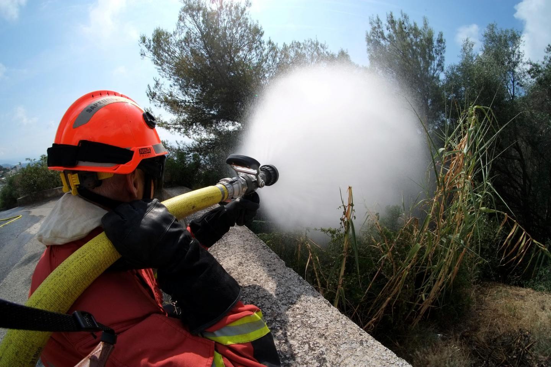 Les pompiers de Monaco ont suivi le même socle de formation aux feux de forêt qu'en France.